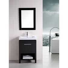 element contemporary bathroom vanity set:  design element deca new york  inch contemporary bathroom vanity