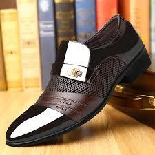 Summer <b>Men</b> Dress <b>Shoes Plus</b> Size <b>Men</b> Formal <b>Flat Shoes</b> Black ...