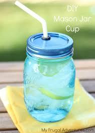 jar crafts home easy diy:  diy mason jar cup
