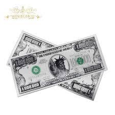 <b>10pcs</b>/<b>lot</b> 24k Gold Banknote US <b>1</b> Million Dollars Bill Paper Money ...