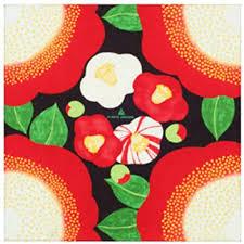 TSUBAKI, Modern <b>Flower</b> Design Japanese Furoshiki, Very <b>Cute</b> ...