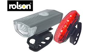 Buy Rolson <b>USB Rechargeable</b> Front and Rear <b>Bike Light</b> Set | Bike ...