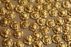 14 <b>pc</b>. Tiny Raw Brass Roses: <b>7mm diameter</b> - made in USA | RB ...