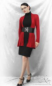 Image result for black skirt with red top
