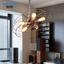 loft american country style chandelier creative personality industry cafe lamp chandelier wholesale iron fan american country style loft