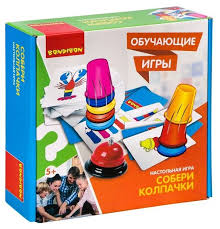 <b>Настольная игра BONDIBON</b> Собери колпачки/Скоростные ...