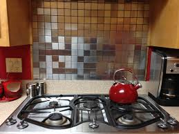 kitchen backsplash stainless steel tiles: production was running smoothly with the prospect of completing the kitchen