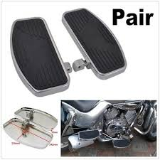 <b>1 Pair New Motorcycle</b> Pedal Front Or Rear Foot Boards Black For ...