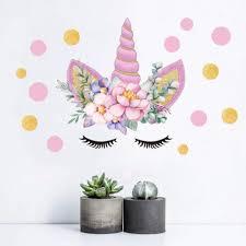 <b>Creative</b> Unicorn <b>Stars Wall</b> Stickers For Girls Bedroom Flowers <b>Wall</b> ...