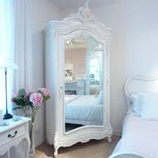 chateau white mirrored armoire beau decor french shabby chic style decor bedrooms ideas shabby