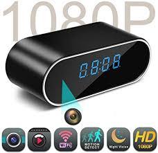 SanyaoDU Outdoor Wifi <b>Table Clock</b> Mini Camera Clock <b>1080P HD</b> ...