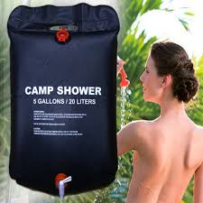 20L Portable <b>Solar Heated</b> Water Bag Energy <b>Heated</b> Bathing ...