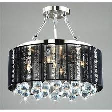 pictures of agreeable crystal chandelier with black shade for your home decor ideas black crystal chandelier lighting