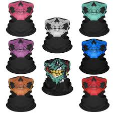<b>Bicycle Ski Skull Masks</b> For Outdoor Riding Multi Use Neck Warmer ...