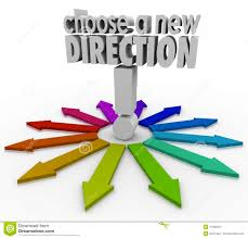 choose a new direction arrows many choices paths forward stock choose a new direction arrows many choices paths forward