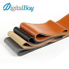 Orange Genuine Leather DIY 38cm <b>Car Steering Wheel Cover</b> With ...
