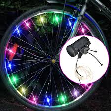 Assorted Colors <b>Bicycle</b> Tire Accessories <b>Bike Spoke Light</b> ...