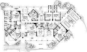 Sante fe Style House Plans   Plan   Main Floor Plan