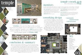 thesis project temple cowork cafe school of planning design board 2 and main mezzanine levels interior cafe interior design office