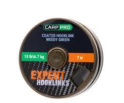 Поводковый материал в оплётке <b>Carp Pro 15 lb</b> 7 м зелёный ...