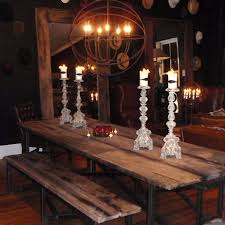 7ft dining table: salvaged wood dining table ft and bench ft http www