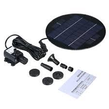 Decdeal 9V 3W <b>Solar</b> Panel <b>Solar</b> Powered <b>Fountain</b> Submersible ...