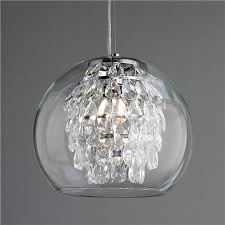 glass globe and crystal pendant light awesome designing clear glass mini pendant lights