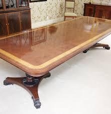 Baker Dining Room Table Baker Furniture English Regency Style Mahogany Dining Room Table