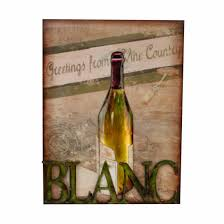 tree scene metal wall art: metal wall art blanc white wine scene