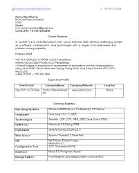 resume templates java j2ee 2 years experience resume resume templates