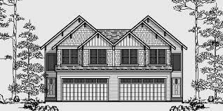 Narrow Lot duplex house plans Narrow and Zero Lot LineD  Craftsman duplex house plans  luxury townhouse plans  bedroom duplex plans