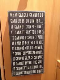 Inspirational quote for someone fighting cancer. | Helping A ... via Relatably.com