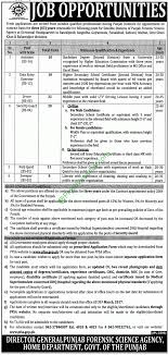 punjab forensic science agency pfsa jobs application form punjab forensic science agency 2017 pfsa jobs application form
