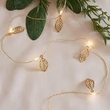 Lights4fun, Inc. 20 <b>Gold Leaf</b> Battery Operated Micro <b>LED</b> Fairy ...