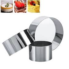 3pcs/set <b>Stainless Steel Round</b> Mini Cake Mousse Mold Cookie ...