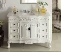 traditional style antique white bathroom:  bathroom vanity adelina  inch traditional style antique white white vanity