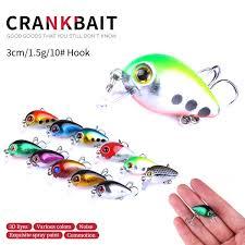 Hengjia New <b>10pcs small CRANKBAIT</b> crank fishing <b>lure</b>, hard bait ...