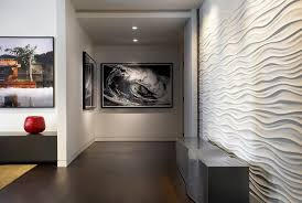 wall alcove decorating ideas hall contemporary with dark floors wall decor neutral colors alcove contemporary home office