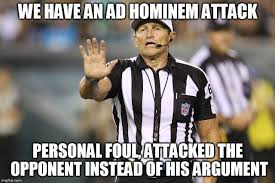 Logical Fallacy Referee | Know Your Meme via Relatably.com