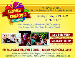 kids summer camp flyer miscellaneous events share on youthsummer ministries all nations life development christian center