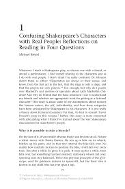 confusing shakespeare s characters real people reflections inside
