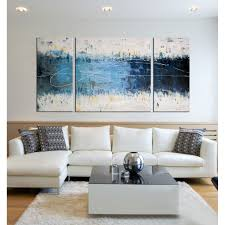 Wall Art Sets For Living Room Wake Up Hand Painted 3 Piece Gallery Wrapped Canvas Art Set By
