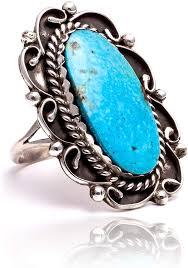 <b>925 Silver</b> Blue Turquoise <b>Ring</b> Men <b>Women</b> Vintage NAVAJO ...