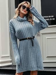 <b>Elegant</b> knitted dress <b>women</b> Autumn turtle neck <b>female white</b> ...