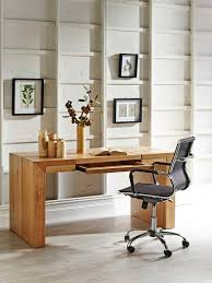 medium size of office small office designs with brown wooden table plus fake flowers on pot brown metal office desk