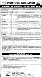 lahore general hospital lgh jobs non gazetted 2015 nts lahore general hospital lgh jobs non gazetted 2015 nts application form advertisement