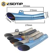 ZSDTRP Universal Motorcycle HP GP Exhaust Pipe <b>Slip</b> On For ...