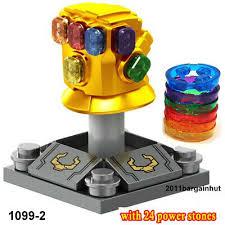 INFINITY GAUNTLET <b>24pcs</b> Stone Thanos Endgame Marvel <b>Super</b> ...