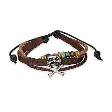 Bling Jewelry Caribbean Pirate Skull Bones Genuine ... - Amazon.com