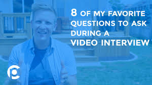 8 of my favorite questions to ask during a video interview 8 of my favorite questions to ask during a video interview